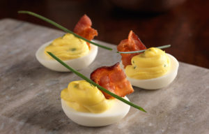 Bacon Truffle Deviled Eggs