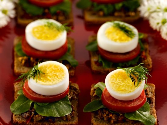 Fresh summer canapes nc egg association nc egg association for Breakfast canape