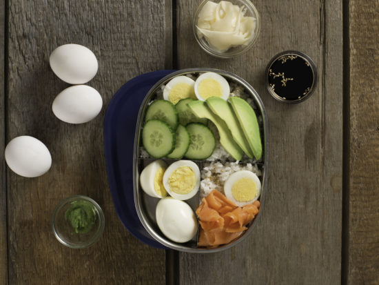 Hard Boiled Egg Bento Box