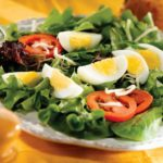 mixed lettuce egg salad