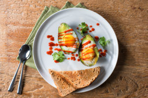 sriracha baked avocado eggs_nc egg