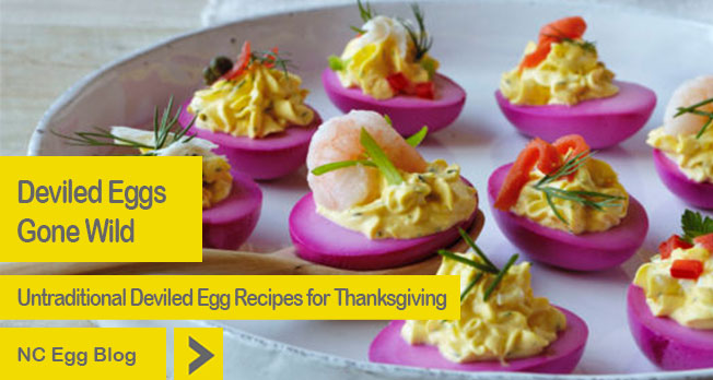 Untraditional Deviled Eggs from NC Egg